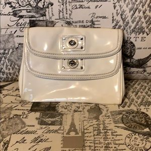 Marc by Marc Jacobs white leather clutch